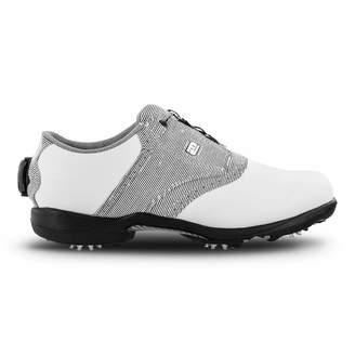 Foot Joy Women's DryJoys Boa Golf Shoes White 9 M Black Print US