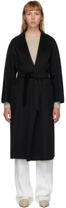 Max Mara Black Cashmere Labbro Icon Coat