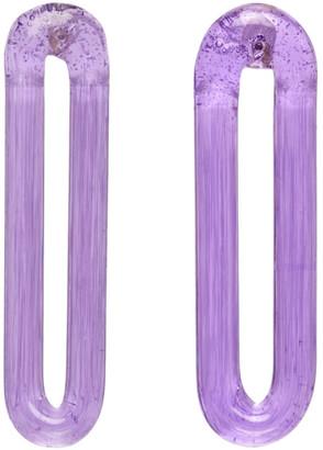Maryam Nassir Zadeh Purple Long Orbit Earrings
