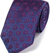 Charles Tyrwhitt Blue and berry silk vintage paisley luxury tie