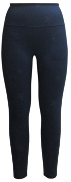 Ideology Embossed-Star High-Waist Leggings, Created for Macy's