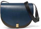 Victoria Beckham Half Moon Box Leather Shoulder Bag - Navy