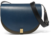 Victoria Beckham Half Moon Leather Shoulder Bag - Navy