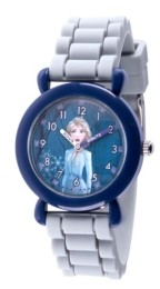 EWatchFactory Disney Frozen 2 Elsa Girl's Blue Plastic Time Teacher Watch 32mm