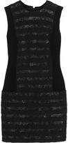 Sonia Rykiel Raffia-trimmed cotton-blend bouclé mini dress