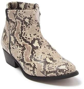 Zigi Artisan Lissa Snakeskin Embossed Leather Ankle Bootie
