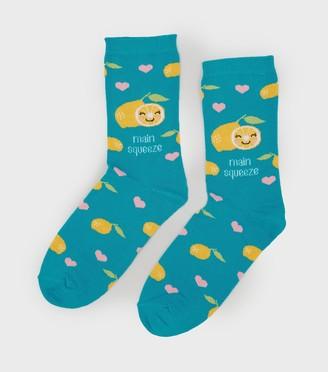 New Look Main Squeeze Slogan Socks