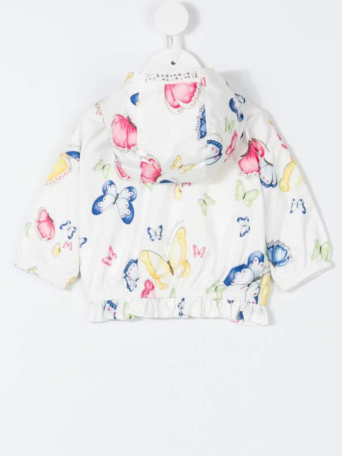 MonnaLisa butterfly print hooded jacket