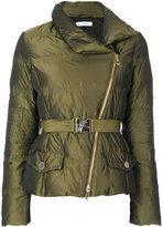 Versace belted puffer jacket - women - Feather Down/Polyester - 42