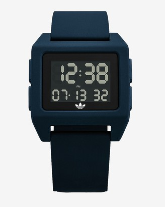 Express Adidas Men'S Archive Sp1 Blue Silicone Watch