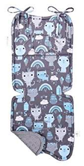 Maylily Bamboo Stroller pad, Pushchair Liner, Pink Kittens