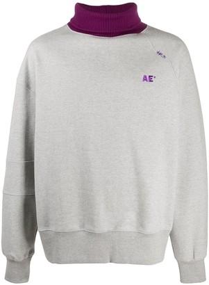 Ader Error Contrast-Rollneck Sweatshirt