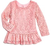 Bloomie's Girls' Lace Peplum Top, Baby - 100% Exclusive