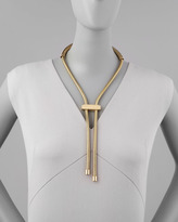 Lanvin Golden Lariat Necklace