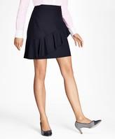 Brooks Brothers Ruffled Stretch-Wool Skirt