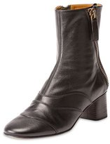 Chloé Side-Zip Leather 50mm Ankle Boot, Black