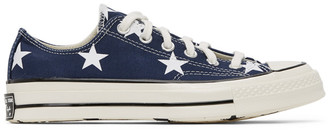 Converse Navy Stars Chuck 70 OX Sneakers