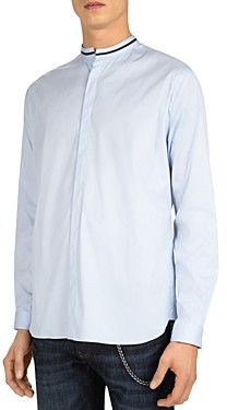 The Kooples Paper Popeline Slim Fit Button-Up Shirt