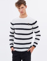 Scotch & Soda Striped Alpaca-Mohair Blend Crew Jumper
