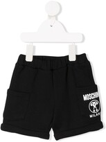 Moschino Kids logo-print shorts