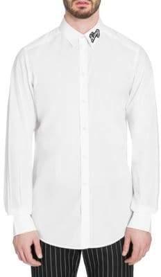 Dolce & Gabbana King Crystal Collar Shirt