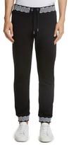 Versace Men's Contrast Print Jogger Pants