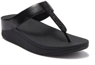 FitFlop Glitz Fino Wedge Thong Sandal