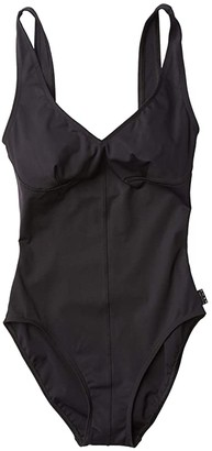 Shan Osaka Deep V One-Piece with Scoop Back (Caviar) Women's Swimsuits One Piece