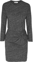 IRO Leticia gathered slub cotton and wool-blend mini dress