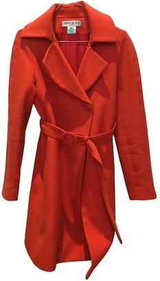 Paul & Joe Orange Wool Coat for Women