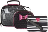 Betsey Johnson 3 Piece Cosmetic Train Case Set