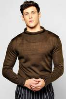 Boohoo Longline Turtle Neck Jumper