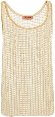 Missoni Sequin-embellished Metallic Crochet-knit Tank