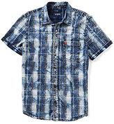 True Religion Indigo Plaid Short-Sleeve Shirt