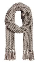 Evergreen Textured Knit Scarf