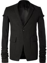 Rick Owens Black Weakling Wool-blend Canvas Blazer - Black