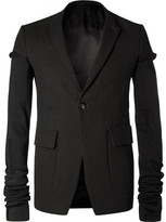 Rick Owens Black Weakling Wool-Blend Canvas Blazer