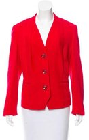 Rena Lange Collarless Wool Blazer w/ Tags