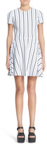 Opening Ceremony Striped Fit & Flare Mini Dress