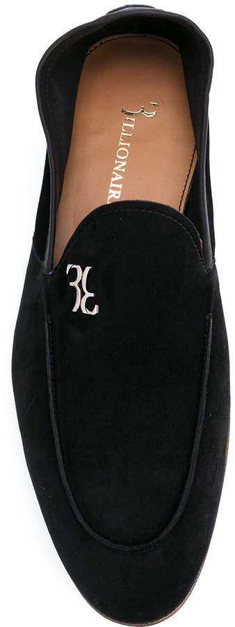 Billionaire logo plaque loafers