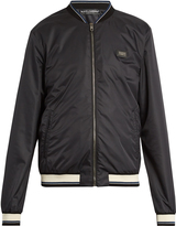 Dolce & Gabbana Logo-plaque taffeta bomber jacket