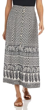 Karen Kane Printed Button-Front Skirt