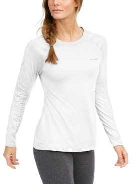 Columbia Women's Windgates Mesh-Trim Long-Sleeve T-Shirt