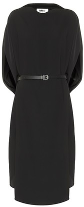 MM6 MAISON MARGIELA Belted crepe dress