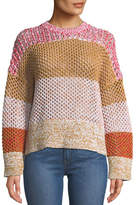 Derek Lam 10 Crosby Colorblock Gradient Crewneck Sweater