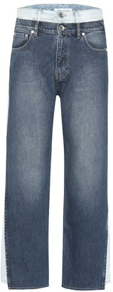 Maison Margiela Layered high-rise cropped jeans
