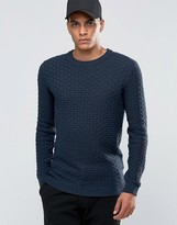 Selected Homme Weave Crew Neck