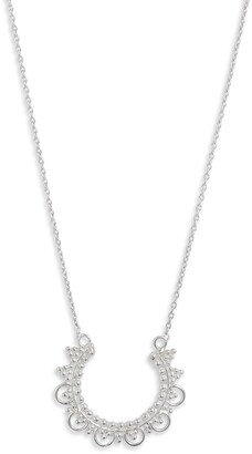 Sterling Forever Open Circle Pendant Necklace