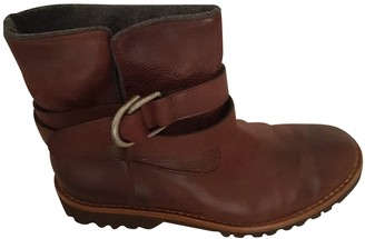 Brunello Cucinelli Brown Leather Ankle boots