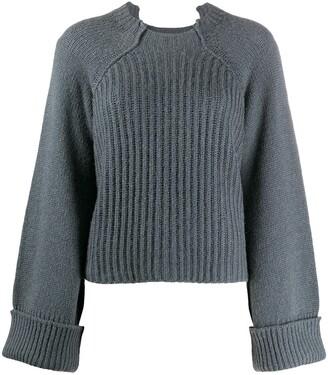 Stella McCartney Cut-Out Ribbed Sweater